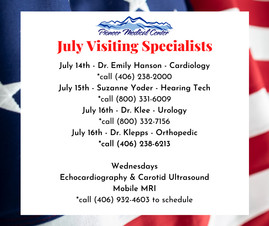 July Visiting Specialists